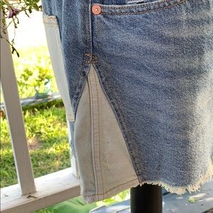 Free People Skirts - FreePeople Patched Up Indigo. Size 30. NWT.